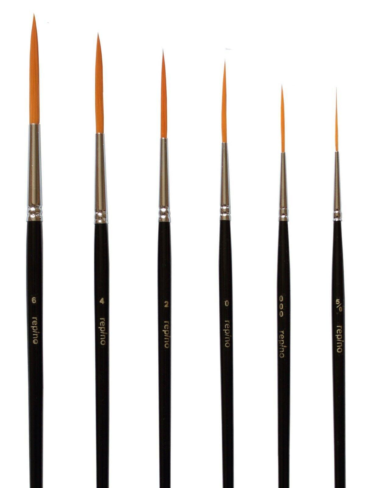 6 Schlepper Pinsel Grösse 5/0 bis 6 - Linienzieher Schriftpinsel Kunsthaar