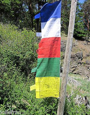 TRADITIONAL COLORS TIBETAN BUDDHIST VERTICAL POLE PRAYER FLAGS DAR CHO NEPAL