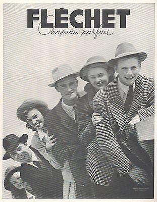 ▬► publicite advertising ad fléchet chapeau parfait