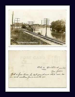 Michigan Midland Dow Chemical Company Real Photo Postcard Dated 7 October  1942