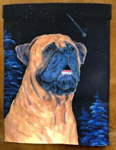 Bullmastiff Garden Flag (night)