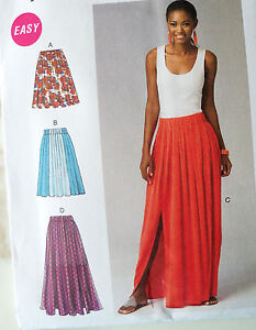 mccalls 6931 sew pattern boho pleated maxi skirt pull on