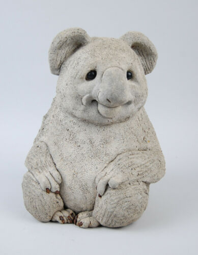 Lou Rankin Concrete Sculpture - Koala Bear - 1986 Original Signed Sedona 11 1/2""