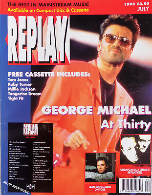 GEORGE MICHAEL Magazine REPLAY July 1993 COVER + Article 'George At 30' UK Rare
