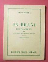 Spartito Tito Aprea - 28 Brani Per Pianoforte -  - ebay.it