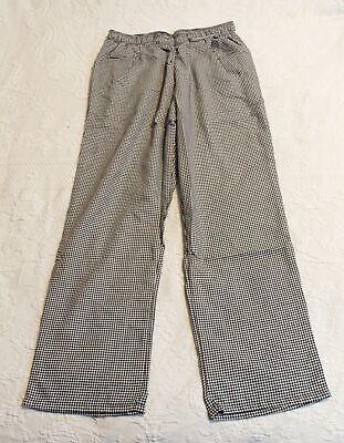 Uncommon Threads Womens Chef Pants 4101 Ab3 Black Houndstooth Medium