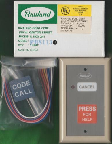 New Rauland-Borg Responder III PBS113 Push For Help / Code Call, Nurse Call Sta