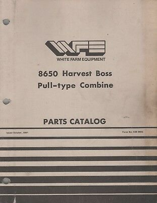 1982 White Farm 8650 Harvest Boss Pull-type Combine Parts Manual 448-080c 984