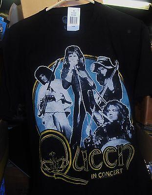 Queen, In Concert, Black T-Shirt (Men's Large), BRAND NEW SEALED