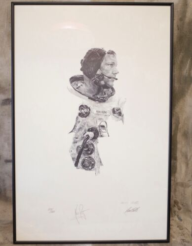 NEIL ARMSTRONG Signed APOLLO Limited Edition 883/1000 PRINT by Paul Calle