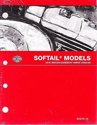 2016 Harley Softail FX/FL Springer Fat Boy Heritage Classic Parts Catalog Manual
