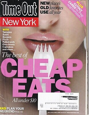 Time Out New York Magazine Best Of Cheap Eats July 22, 2009