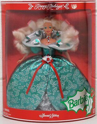 Happy Holidays Barbie Doll Special Edition Mattel Christmas 1995 14123 NRFB New - Christmas Barbie