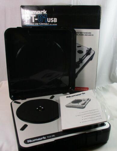 New Numark PT-01USB Portable USB Vinyl Archiver Turntable | Record to MP3