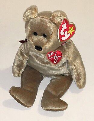 Ty Beanie Babies 1999 Signature Bear NEW Retired Stuffed Plush Baby Toy NWT - Original Beanie Babies