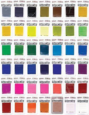 Make n Bake Polymer Clay 60g Pack Single Colour Mont Marte - Choose your colours - Bake Polymer Clay