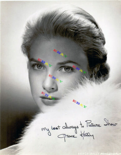 Grace Kelly Autographed Signed 8x10 Photo Reprint