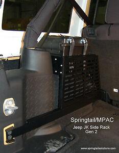Jeep JK Unlimited Wrangler Driver Side Storage MOLLE Rack