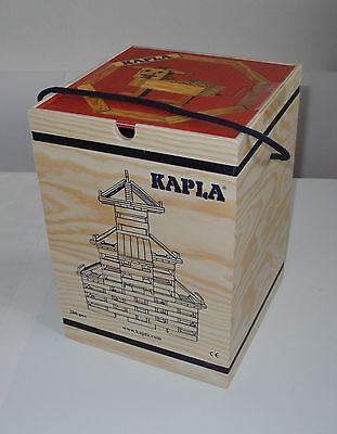 Kapla 280 Holzbausteine 280 Stück  in Holzbox mit Baubuch rot Fotoband NEU, OVP