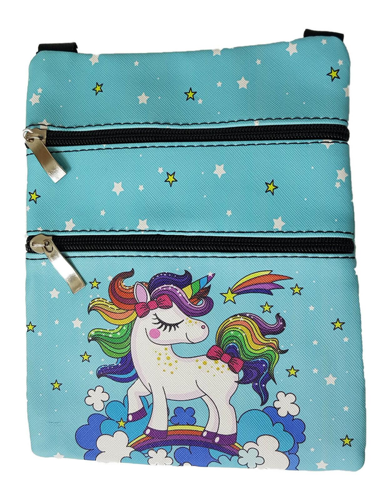 Kinder Handtasche Einhorn Türkisblau - Kindertasche Einhorntasche