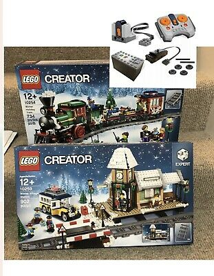 NEW LEGO Xmas Set: 10254 Holiday Train + 10259 Village Station + Power Functions