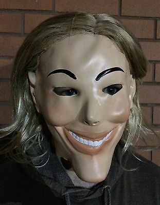 Deluxe The Purge Maske mit Perücke Halloween Kostüm 1, 2, 3 Herren (Purge-maske Halloween)