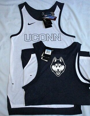 - M / L Men's NIKE Elite UCONN HUSKIES TANK TOP Basketball JERSEY Univ Connecticut