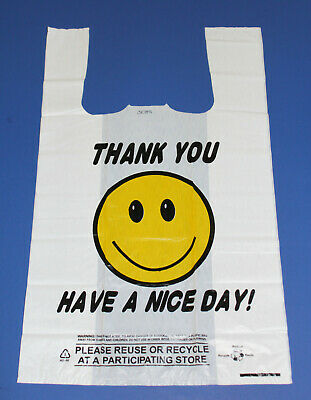 310ct Wholesale Plastic Shopping Bags Happy Face Hd 18 Big Size Bag 20mic