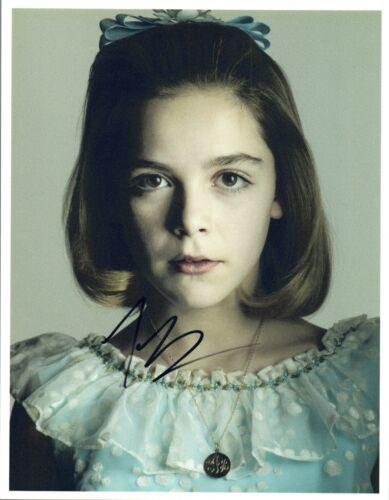 Kiernan Shipka Signed Autographed 8x10 Photo Mad Men COA VD