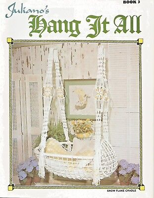 Juliano's Hang It All Book 3 Macrame Vintage Pattern Book NEW Curtain (Macrame Book)