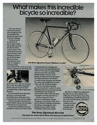 1981 ROSS Bicycles - What Makes This Bicycle So Incredible? vintage print ad