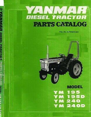 Yanmar Ym195 Ym195d Ym240 Ym240d Diesel Tractor Service Parts Manual