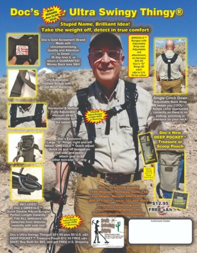 IMPROVED ULTRA Swingy Thingy ® w/AMAZING QWEEGLE™ Bungee for all Metal Detector