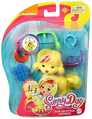 NEW Mattel Nickelodeon Sunny Day Pop-In Style Doodle Doll With Accessories (Dog Sunnies)