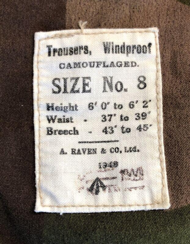 SAS Windproof Ventile Camouflaged Trousers Modified Battledress Pants Malaya
