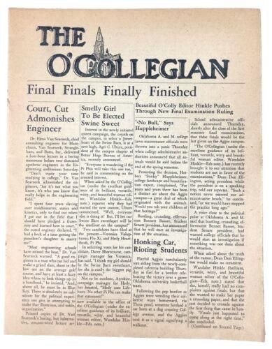 Vintage Satirical Newspaper Stillwater Oklahoma A&M OSU The O