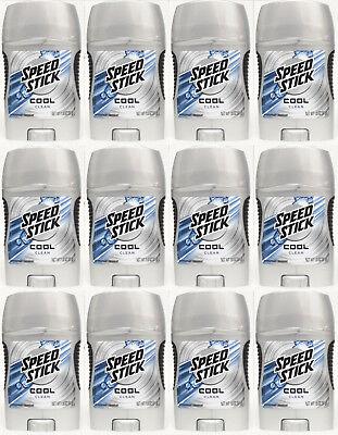 12 Speed Stick COOL CLEAN Antiperspitant Deodorant Men Trave