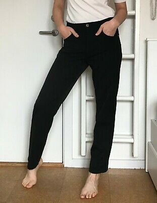 GUCCI Jeans 881 Women's Pants Black Cotton Stylish Vintage Look Made in Italy