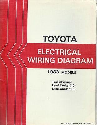 Truck Electrical Wiring - 1983 Toyota Pickup Truck  Electrical Wiring Diagram Repair  Manual
