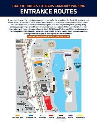 Chicago Bears 2021 Season Waldron Deck Parking Pass