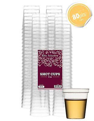 2 Oz Plastic Shot Glasses (Elite Selection Shot Glasses | 2 Oz. Clear Plastic Disposable Cups | Perfect)