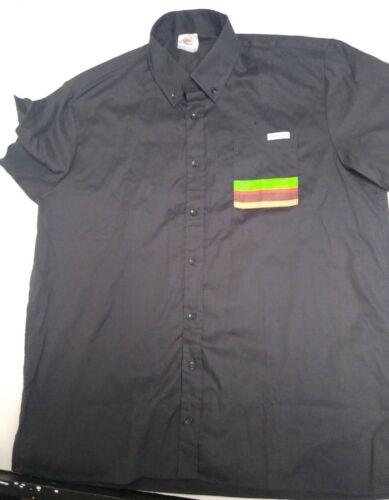BURGER KING UNIFORM Black Button Down Shirt  Men