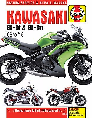 Kawasaki ER-6 ER-6F & ER-6N 2006-2016 Haynes Manual 4874 NEW