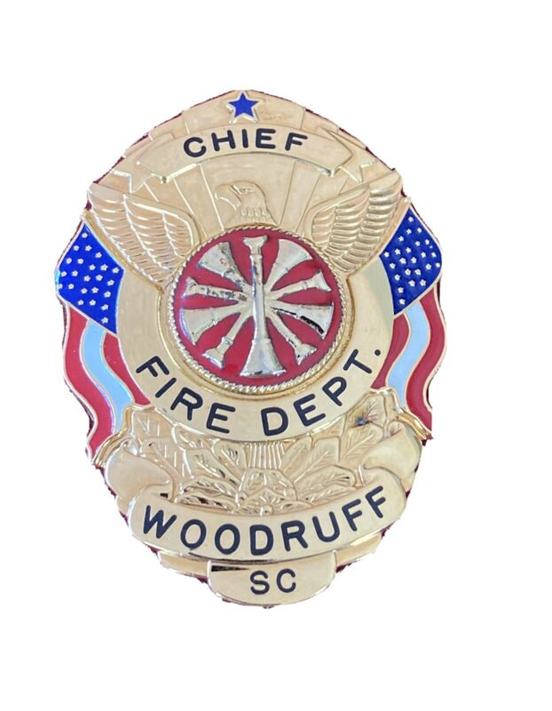 OBSOLETE WOODRUFF FIRE DEPT SOUTH CAROLINA CHIEF HM SMITH & WARREN SPARTANBURG
