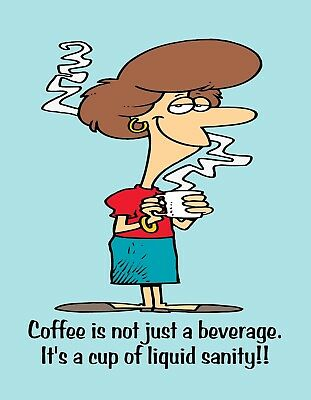 METAL REFRIGERATOR MAGNET Coffee Not Just Beverage Sanity Friend Family Humor