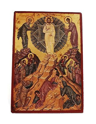 Greek Russian Orthodox Lithography Icon Transfiguration Of Christ 19X13cm