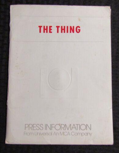 1982 THE THING Press Kit FN+/VG+ John Carpenter / Kurt Russell 37 s/s pgs