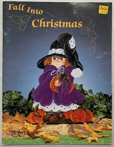 Fall into Christmas Painting Book by Lou Ann Stenberg Very Nice Condition !