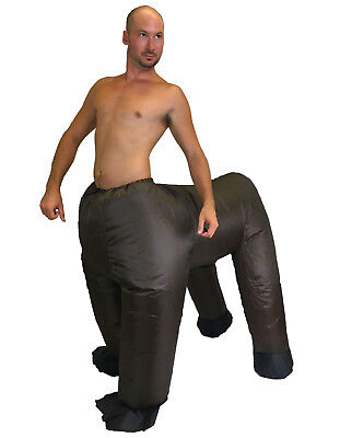Blow Up Horse Costume (Funny Centaur Costume Inflatable Blow up Suit Brown Horse Mens Halloween)