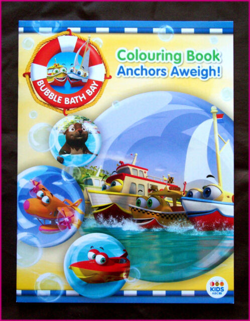 BUBBLE BATH BAY - ANCHORS AWEIGH! Awesome COLOURING IN BOOK Colour in - ABC KIDS